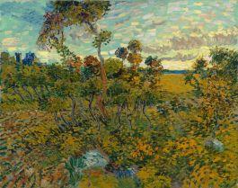 Zonsondergang bij Montmajour - Vicnent van Gogh, 1888 (Van Gogh Museum)