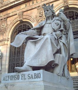 Standbeeld van Alfons X in Madrid - Foto: CC