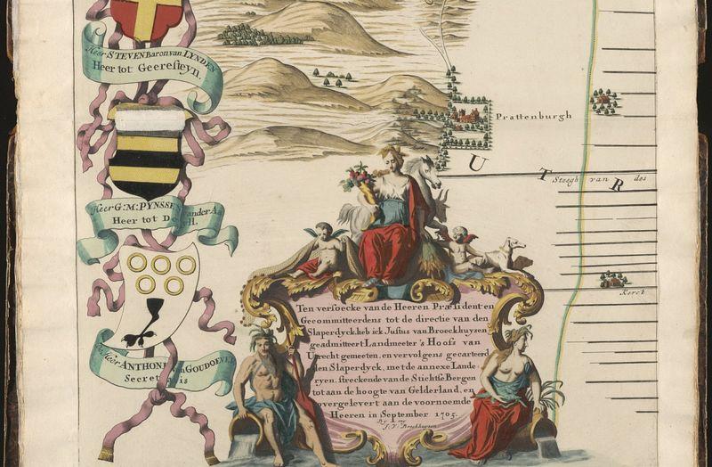 Gelderse Vallei in 6 bladen door Justus van Broeckhuysen, 1705 - Pagina (detail) uit de Atlas der Neederlanden - http://cf.uba.uva.nl/atlasderneederlanden