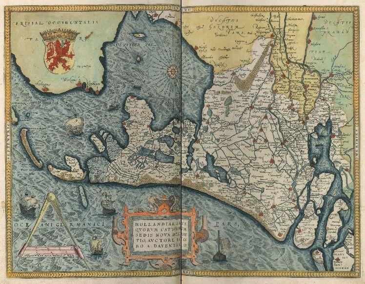 Kaart van 'Hollandia' in de door de KB verworven atlas