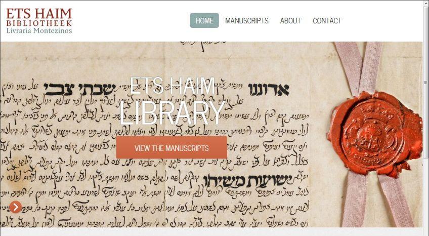 Ets Haim zet 200 oude joodse handschriften online - www.etshaimmanuscripts.nl