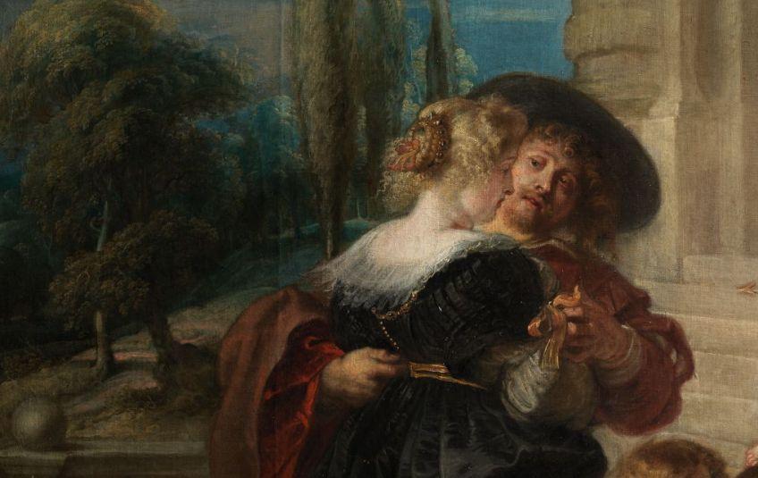 De liefdestuin - Peter Paul Rubens, ca. 1633 - detail (Madrid, Museo Nacional del Prado)