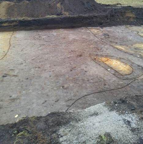 Sporen van de mysterieuze greppel - Foto: Utrechtse Heuvelrug