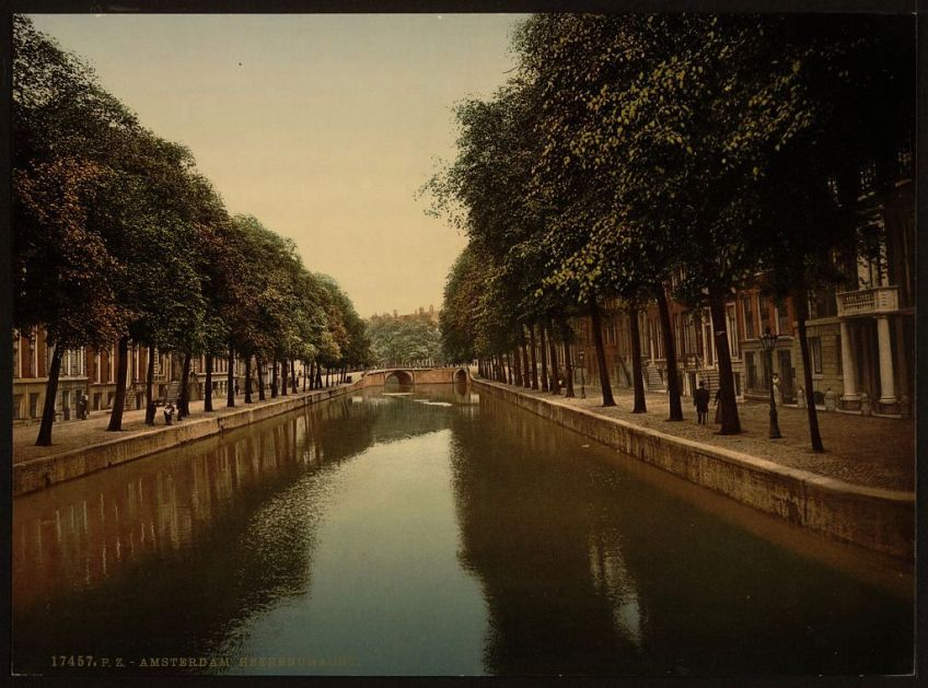 De Herengracht rond 1890 (Library of Congress)