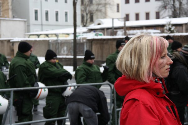 Blokkades in Dresden (2010) Foto: Yolande van der Deijl