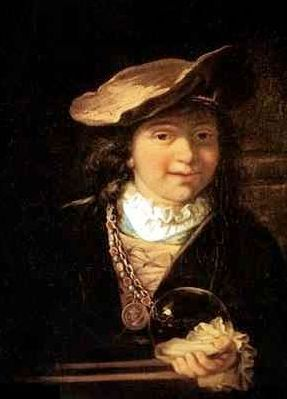 Kind met Zeepbel - Rembrandt?