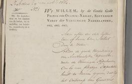 Openingspagina van de grondwet van 1814 (Nationaal Archief)