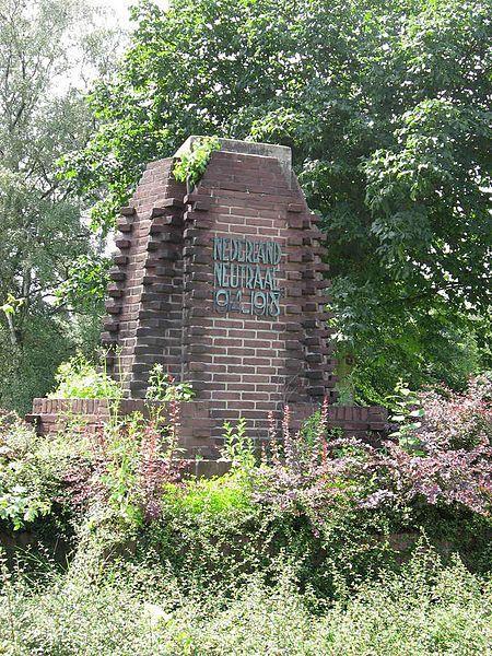 Monument in Winterswijk voor de Nederlandse neutraliteit tijdens de Eerste Wereldoorlog - Foto: CC / Ceinturion