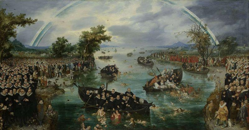 De zielenvisserij, Adriaen Pietersz. van de Venne, 1614