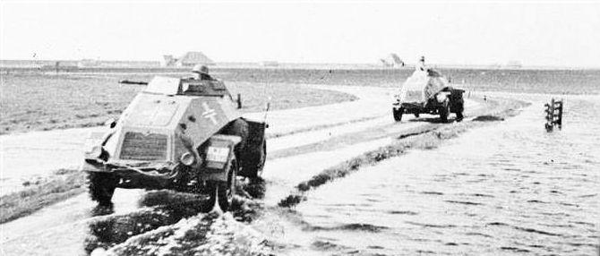 Duitse pantserwagens bij Zurich (foto: strijdbewijs.nl)