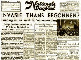 Het Nationale Dagblad over de invasie (Delpher)