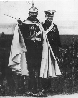 Churchill en de Duitse keizer Wilhelm II in 1906