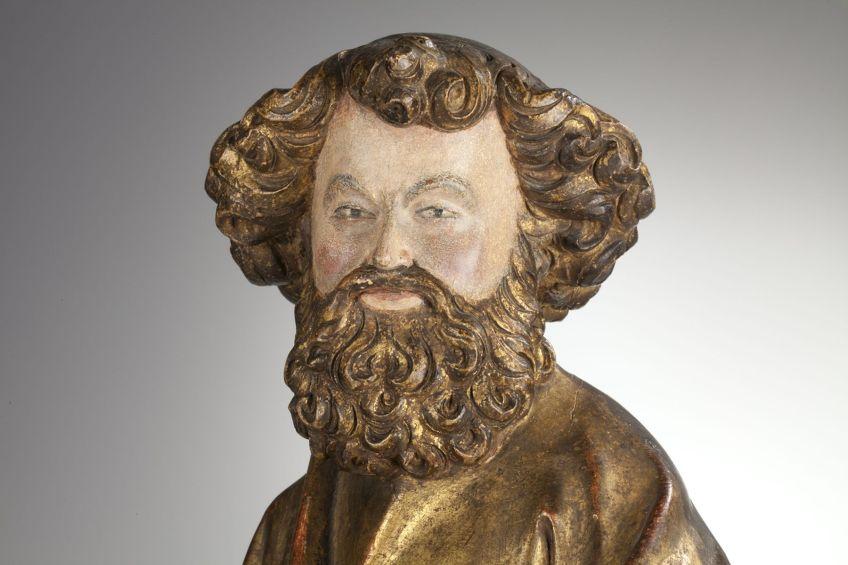Detail van het Petrusbeeld (Catharijneconvent)