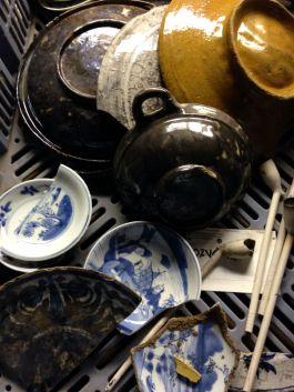 Objecten die in de beerput gevonden zijn