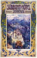 Affiche Südbahn-hotel door Gustav Jahn, 1904