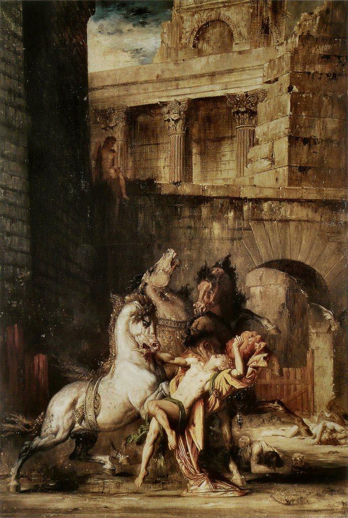 Diomedes wordt verslonden door zijn eigen paarden - Gustave Moreau