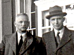 Pierhagen (l) en Peeters in de VS 1946