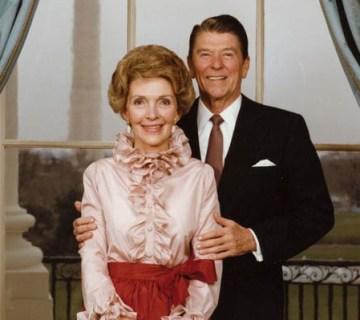 Nancy Reagan met president Ronald Reagan - cc