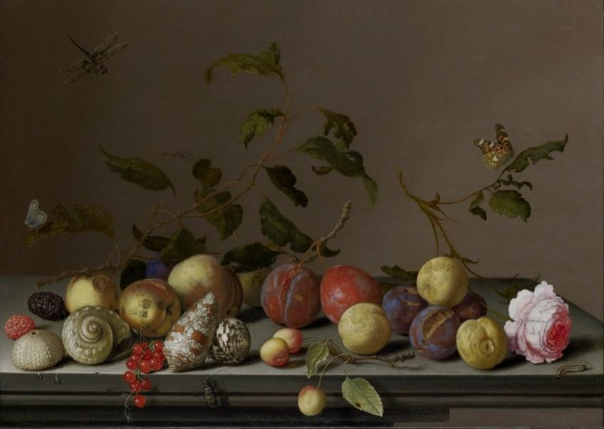 Stilleven met vruchten en slakkenhuizen - Balthasar van der Ast (Suermondt-Ludwig Museum)