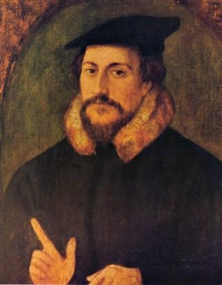 Calvijn volgens Hans Holbein de Jonge