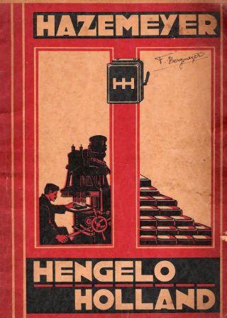 Folder van Hazemeyer Signaalapparatenfabriek, 1930. - Bron: www.holechistorie.nl