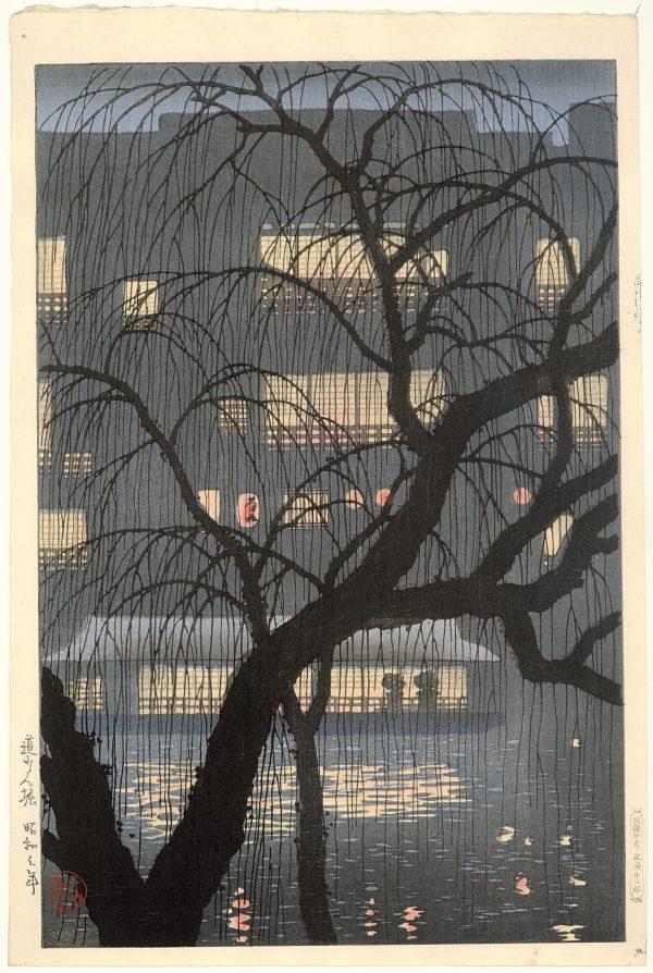 DŌTONBORI, Uehara Konen (1878-1940). Kleurenhoutsnede op papier, 1928, P0762. Collectie Elise Wessels – Nihon no hanga
