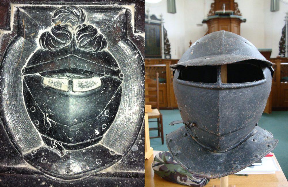 Zeldzame 17e-eeuwse helm gevonden in Fries kerkje