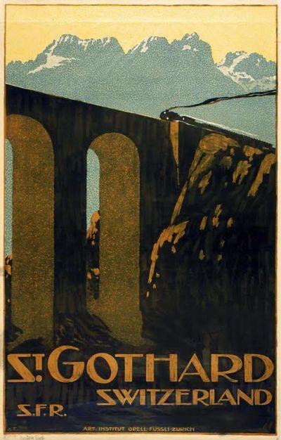 Affiche St. Gotthard, Anton Trieb, ca. 1901