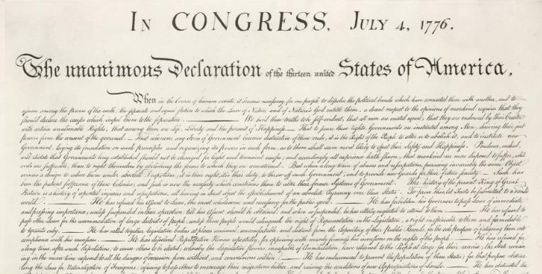 De Amerikaanse Onafhankelijkheidsverklaring