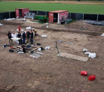 Opgraving Merovingisch grafveld Borgharen, gemeente Maastricht.