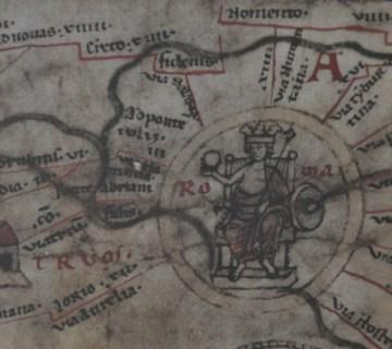 Rome op de Peutingerkaart (Österreichische Nationalbibliothek)