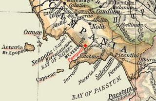 Kaart van Pompeii