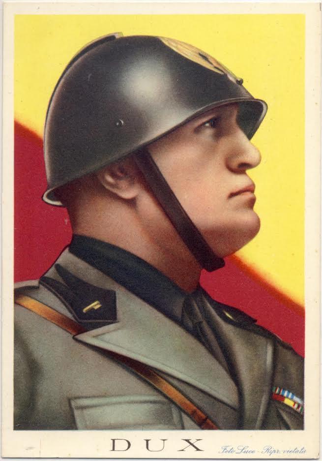 Propagandaposter Benito Mussolini. Bron: historia.org