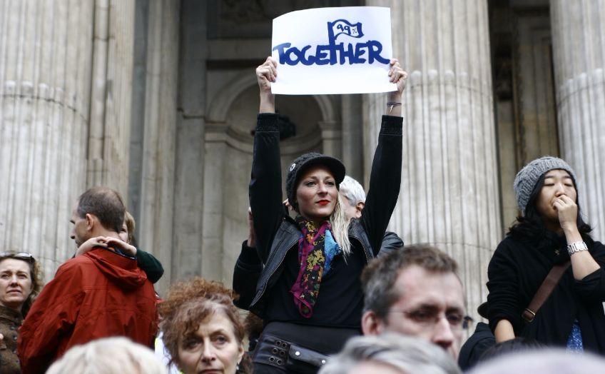 'Wij zijn de 99 procent'-demonstrant - cc