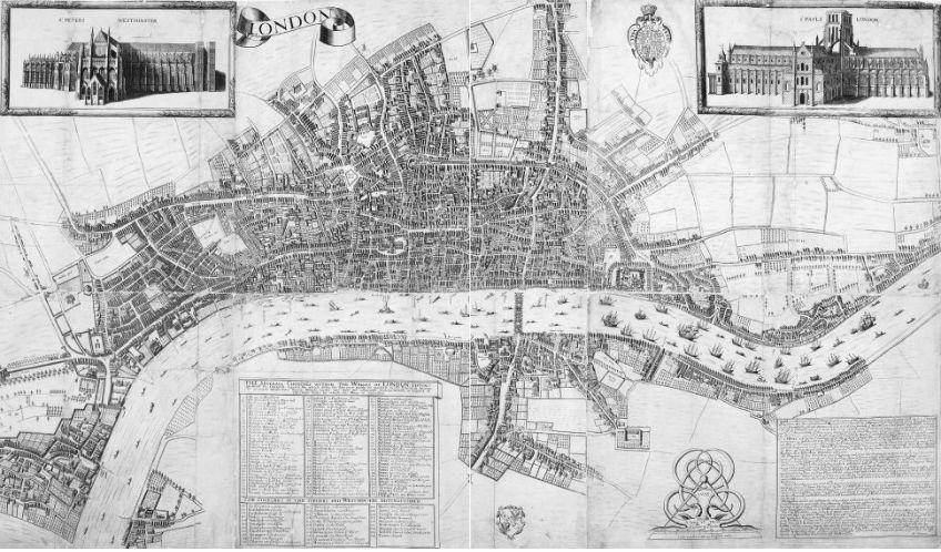 Londen in 1658. Bron: 1666