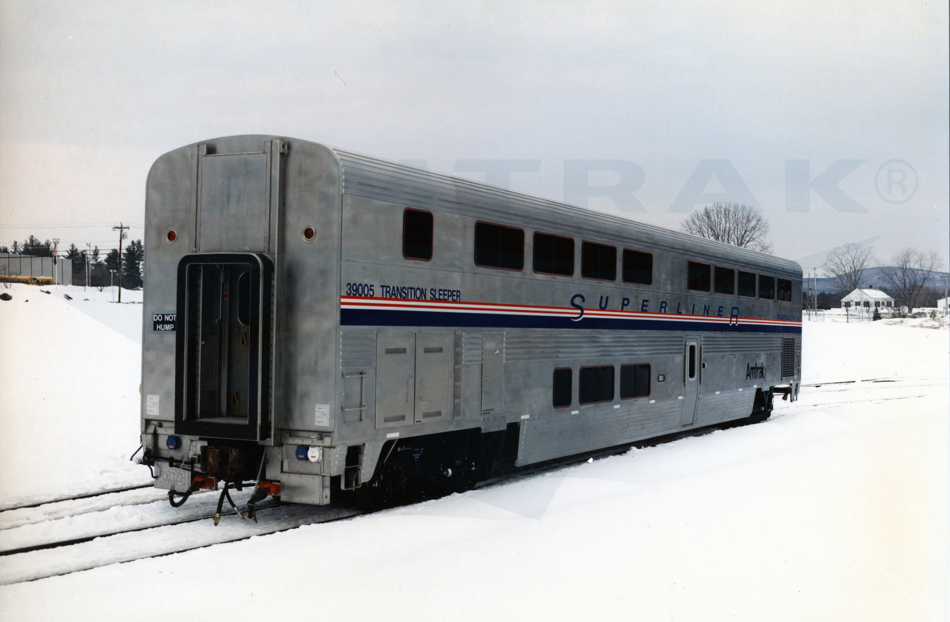 Capital Coast Kitchens Transition Sleeper No 39005 In The Snow 1990s Amtrak