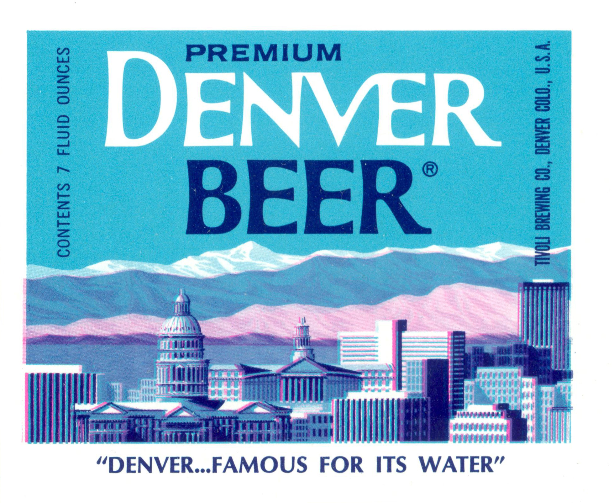 Tivoli Golden Tower Beer 1960s Bottle Labels From Denver 39s Tivoli Brewing Company