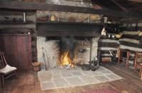 fireplace in log inn   historyonthefox