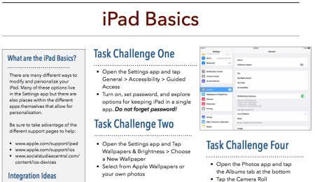 ipad basics challenge
