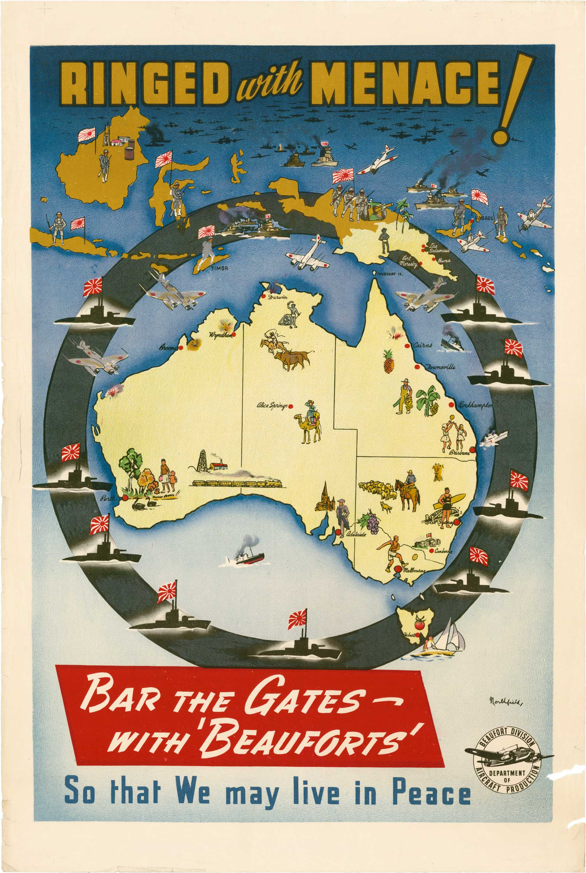 Australian Online Catalogues A Thousand Words Australian Propaganda Posters Japanese