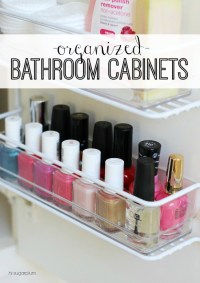 {Organized} Master Bathroom Cabinets | Hi Sugarplum!