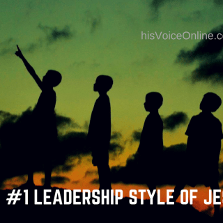 #1leadership style of jesus