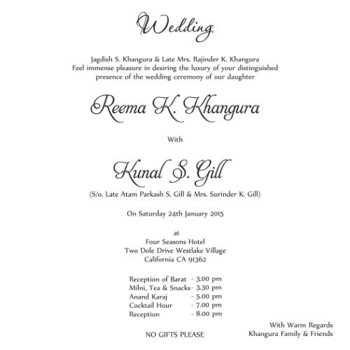 Looking for Wedding card wordings? - invitation formats