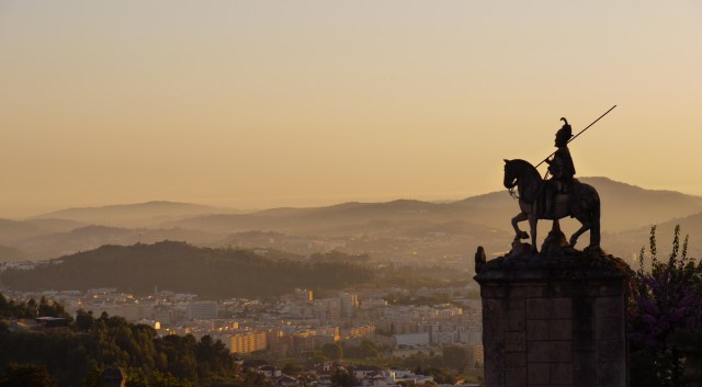 Horseman statue and the city of Braga as seen from Bom Jesus do Monte - Braga, Portugal (64)