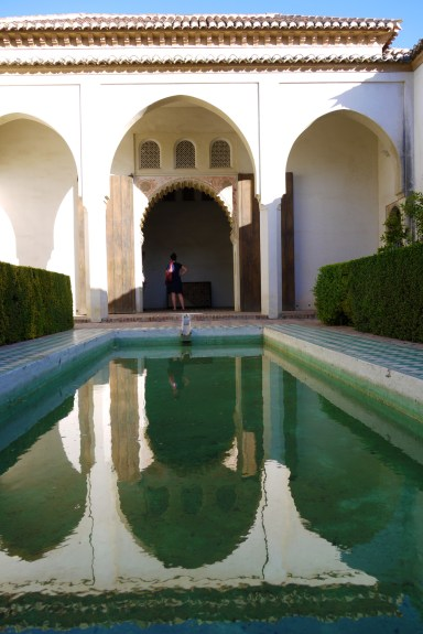 Reflective pool inside Malaga Castle - Malaga, Spain (19), Malaga Free Walking Tour