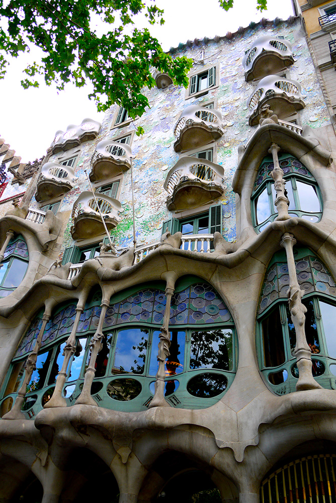 casa batll barcelona spain front facade