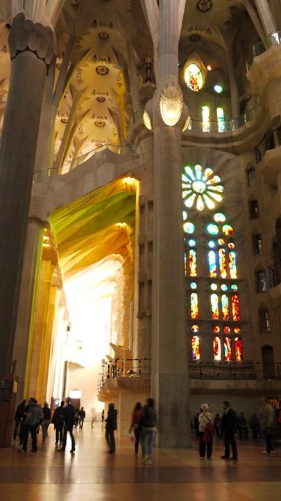 Sagrada Familia interior, Barcelona, Spain