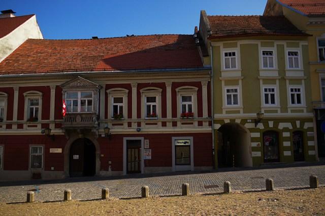 Ptuj, Slovenia (17) - colourful buildings on Murkova ulica