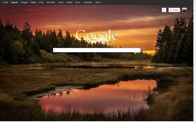 This Chrome Extension now allows background images on the Google