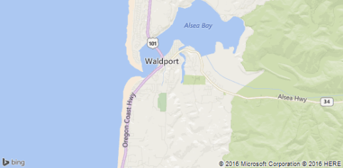 Waldport Map